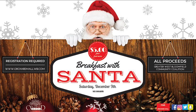 Breakfast With Santa Saturday, December 9